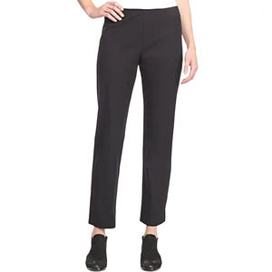 EILEEN FISHER   Black Cotton Cropped Trouser